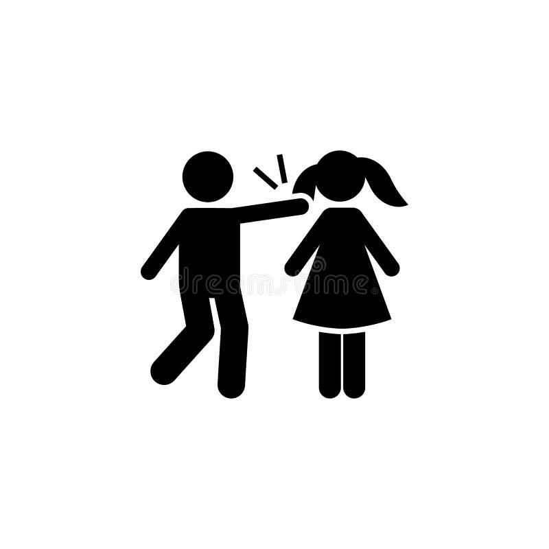 Dziewczyna, chłopiec, włosy, gniewna ikona Element dziecko piktogram Premii ilo?ci graficznego projekta ikona Znaki i symbol kole royalty ilustracja