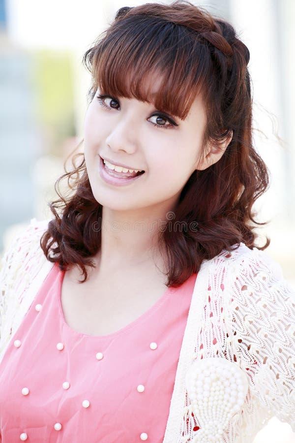Dziewczyna Chiński Cukierki Zdjęcie Stock