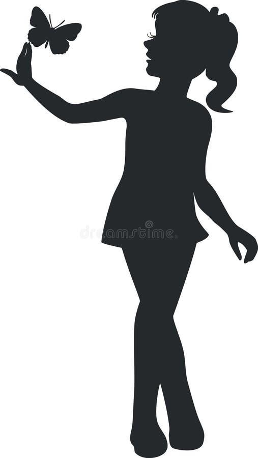 Dziewczyna chodzi czerń 11 royalty ilustracja
