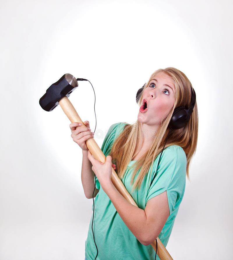 dziewczyna ciężki metal zdjęcie stock
