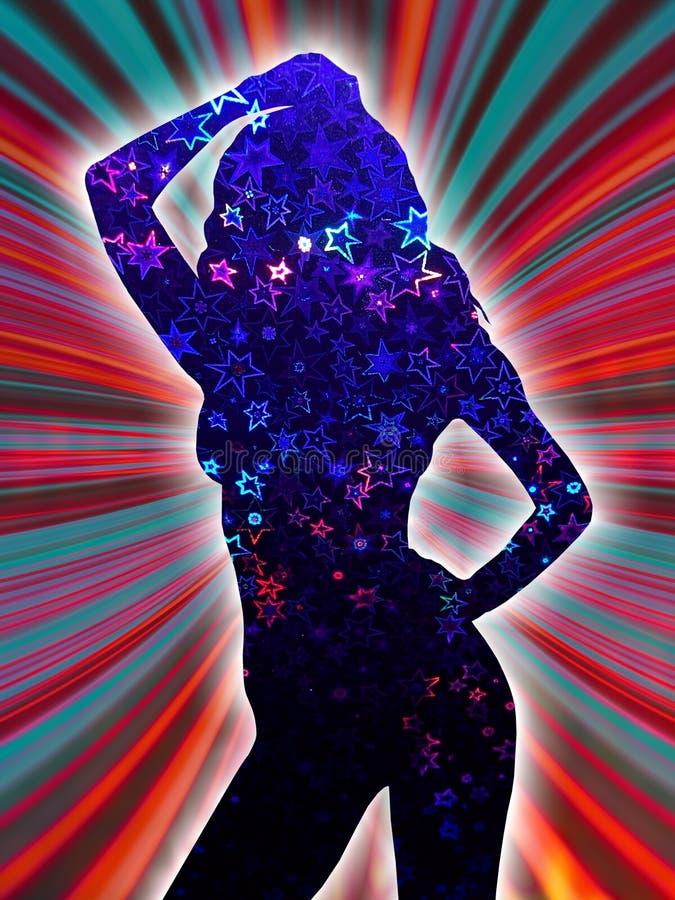 dziewczyna disco ilustracji