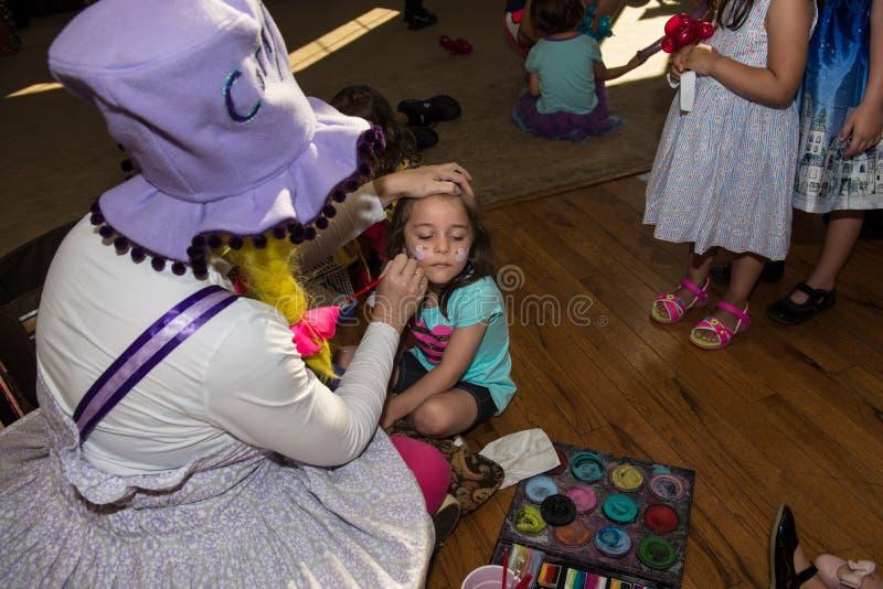 Dziewczyna Dostaje twarz obraz zdjęcie royalty free