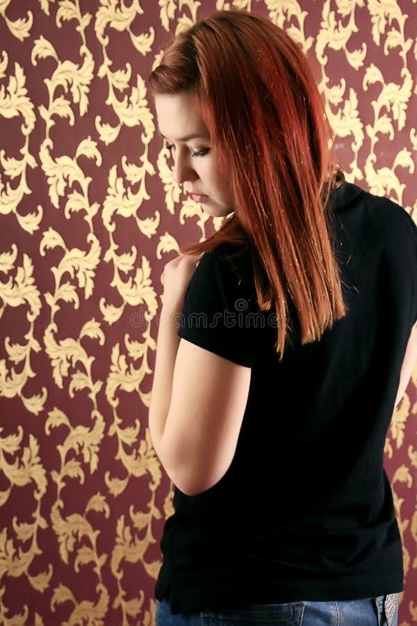 dziewczyna dosyć zdjęcia stock