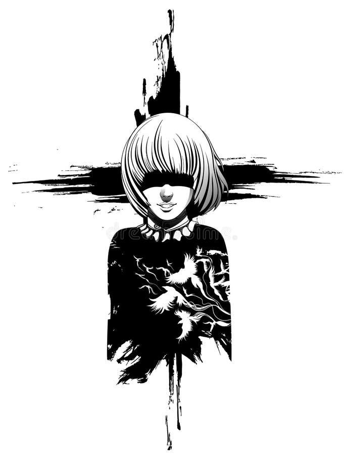 Dziewczyna duch ilustracji