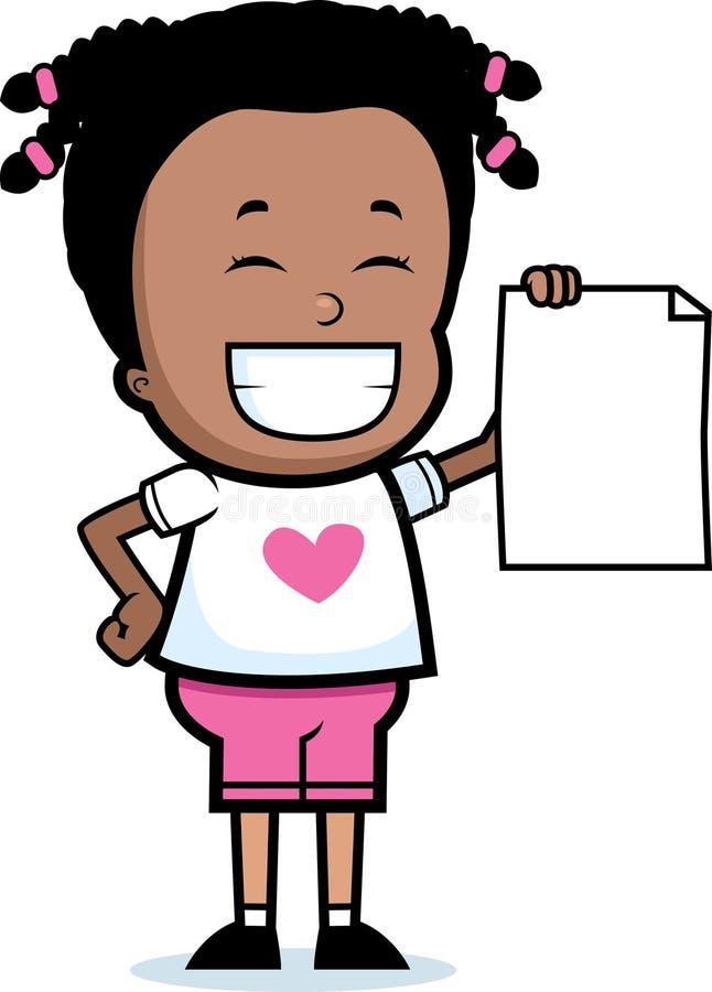 dziewczyna dumna ilustracji