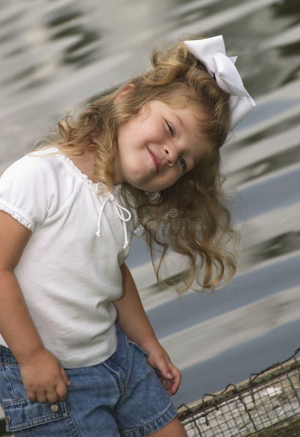 dziewczyna ekspresyjna trochę obrazy stock