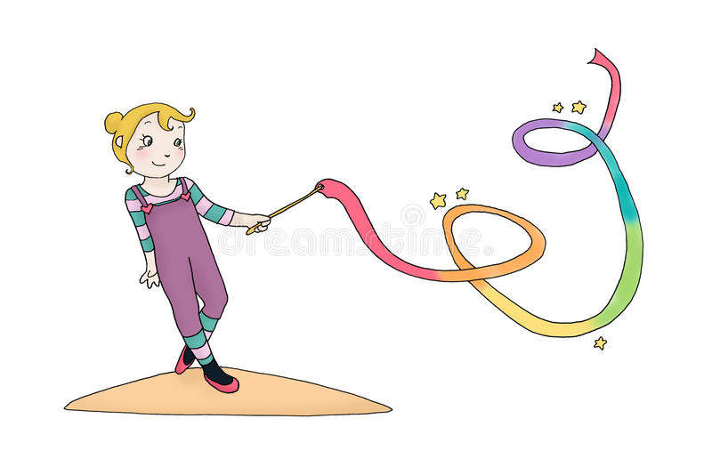 dziewczyna faborek ilustracji