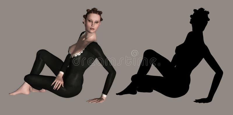 dziewczyna fizycznej fitness royalty ilustracja