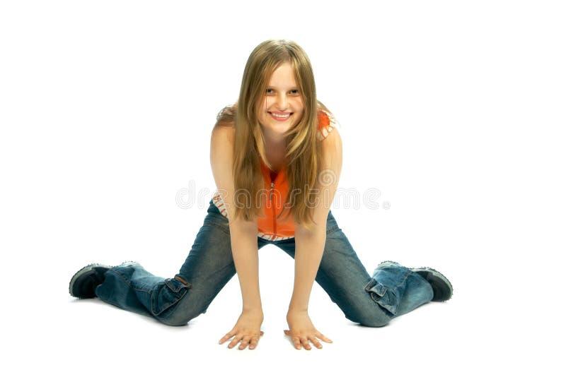 dziewczyna fizycznej fitness obrazy royalty free