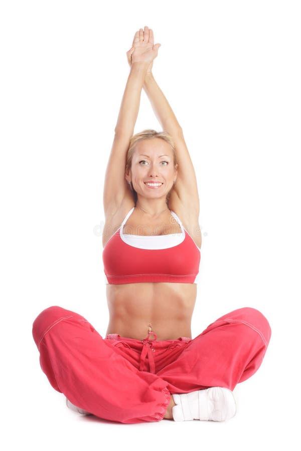 dziewczyna fizycznej fitness zdjęcia stock