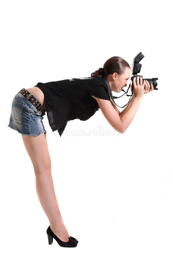 dziewczyna fotograf obraz stock