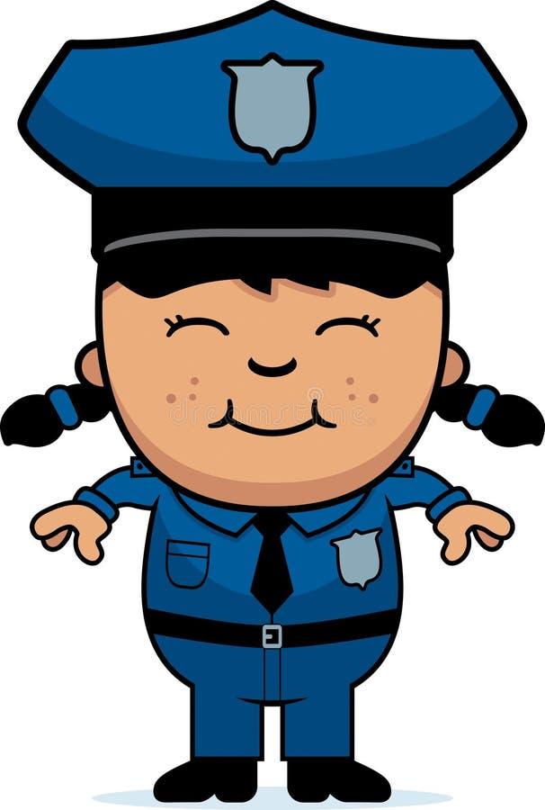 Dziewczyna funkcjonariusz policji ilustracja wektor