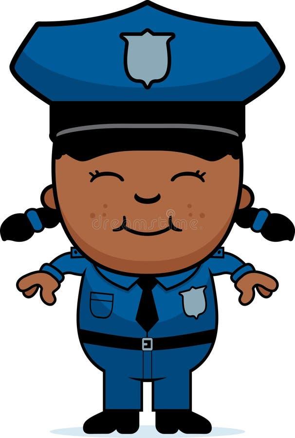 Dziewczyna funkcjonariusz policji royalty ilustracja
