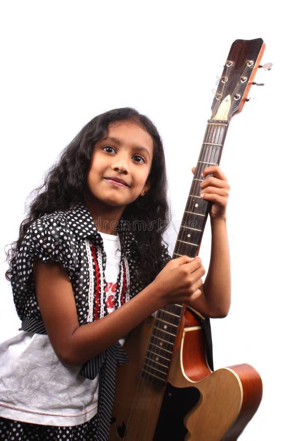 dziewczyna gitarzysta zdjęcie stock