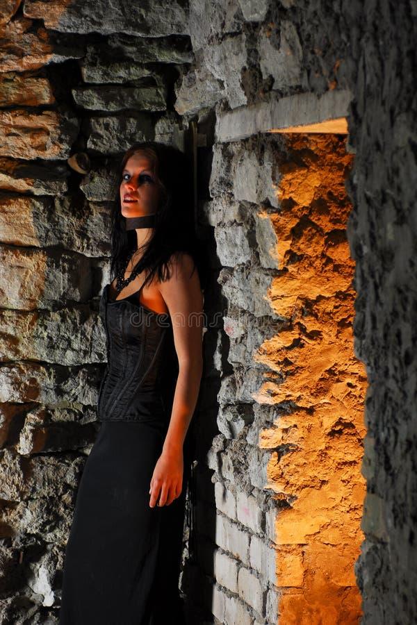 dziewczyna gothic lochu fotografia royalty free