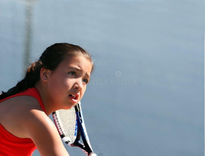 Download Dziewczyna gra w tenisa obraz stock. Obraz złożonej z sporty - 128683