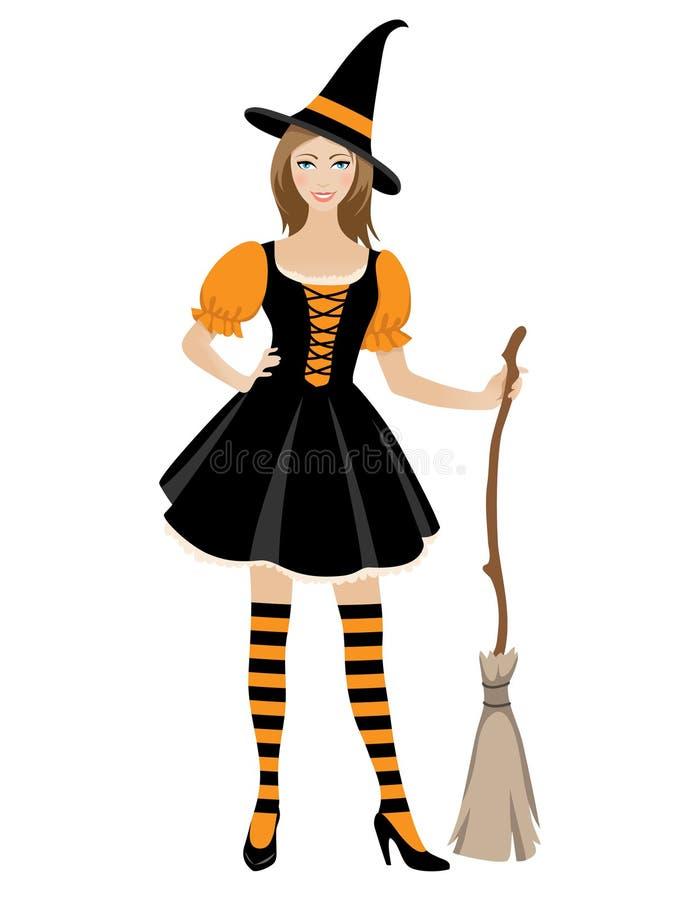 dziewczyna Halloween ilustracji