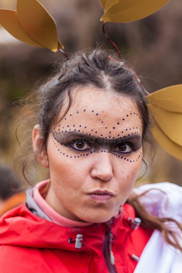 dziewczyna Halloween zdjęcia royalty free
