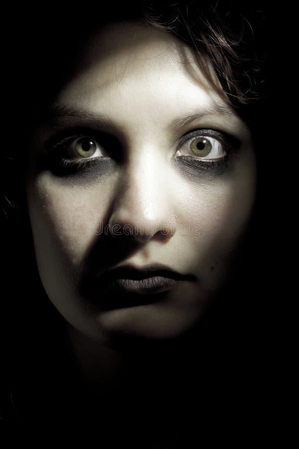 dziewczyna horror zdjęcie stock