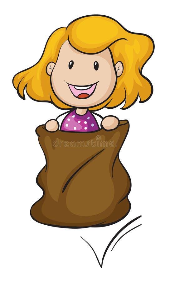 Dziewczyna i burlap ilustracji