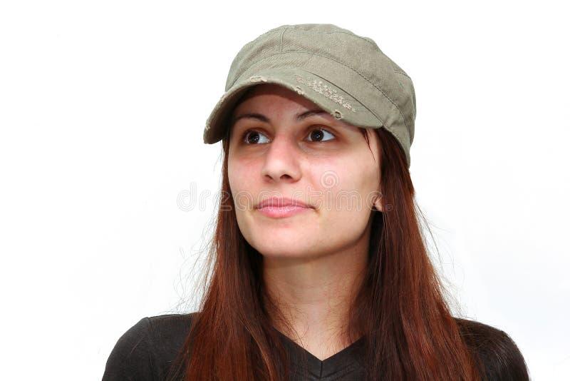 dziewczyna isoalted zdjęcie stock