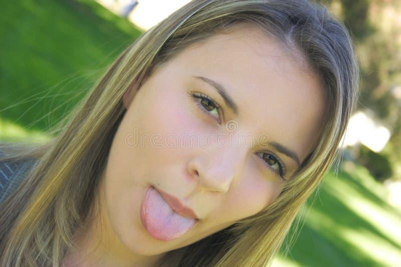 dziewczyna język zdjęcia royalty free