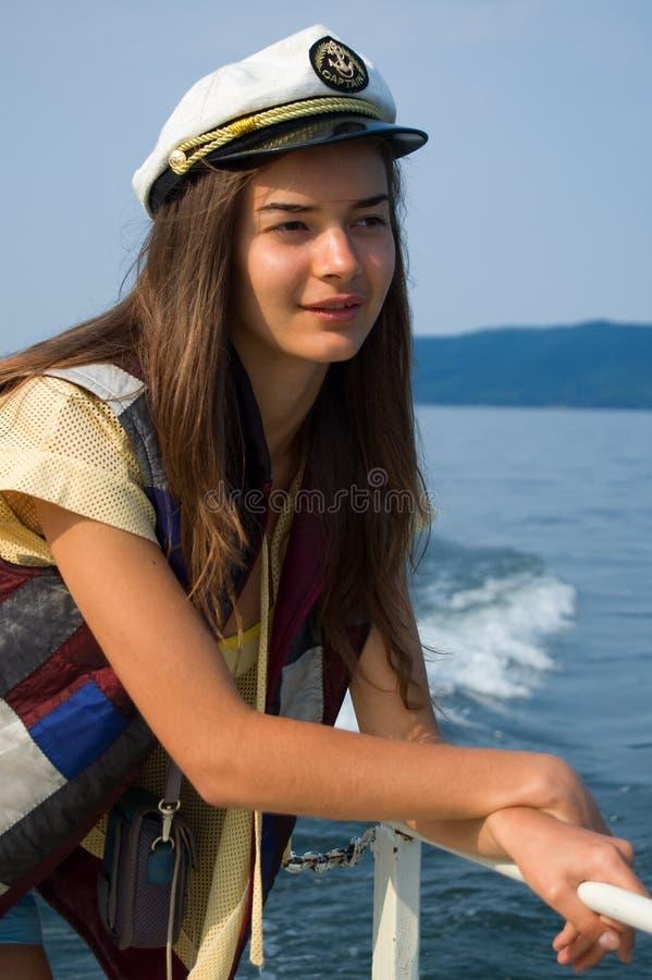 dziewczyna jachtu young zdjęcie stock