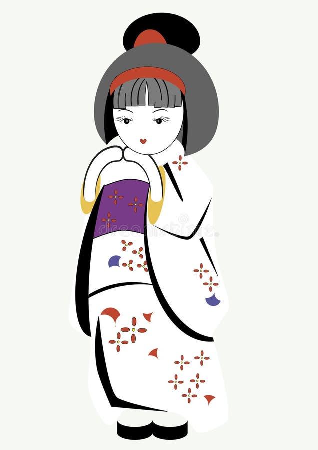 dziewczyna japończyk ilustracja wektor