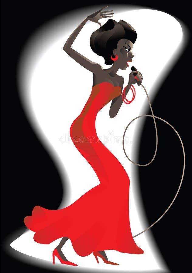 dziewczyna jazz royalty ilustracja