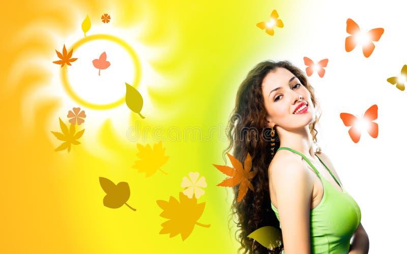 dziewczyna jesienią zdjęcia stock