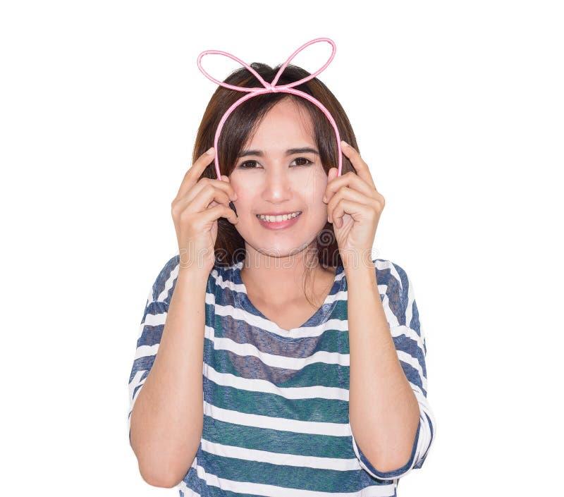 Download Dziewczyna Jest Ubranym Hairband Zdjęcie Stock - Obraz złożonej z potomstwa, kolor: 53787888