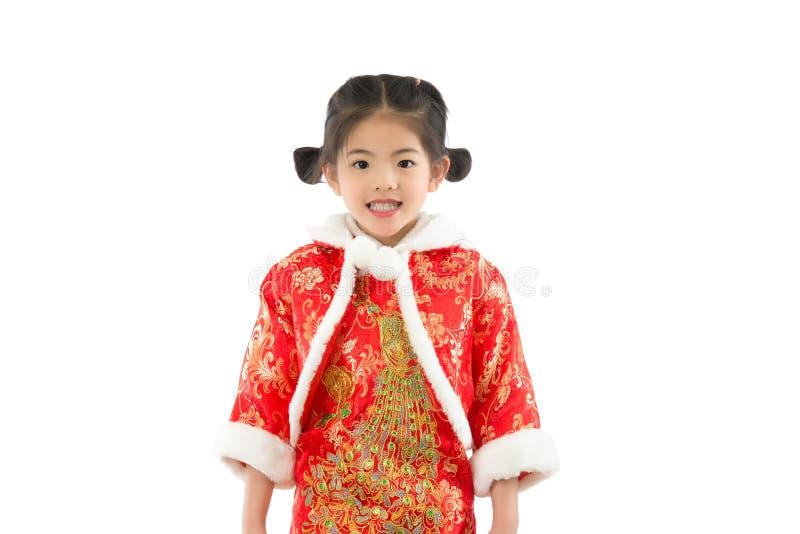 Dziewczyna jest ubranym tradycyjnego cheongsam fotografia royalty free