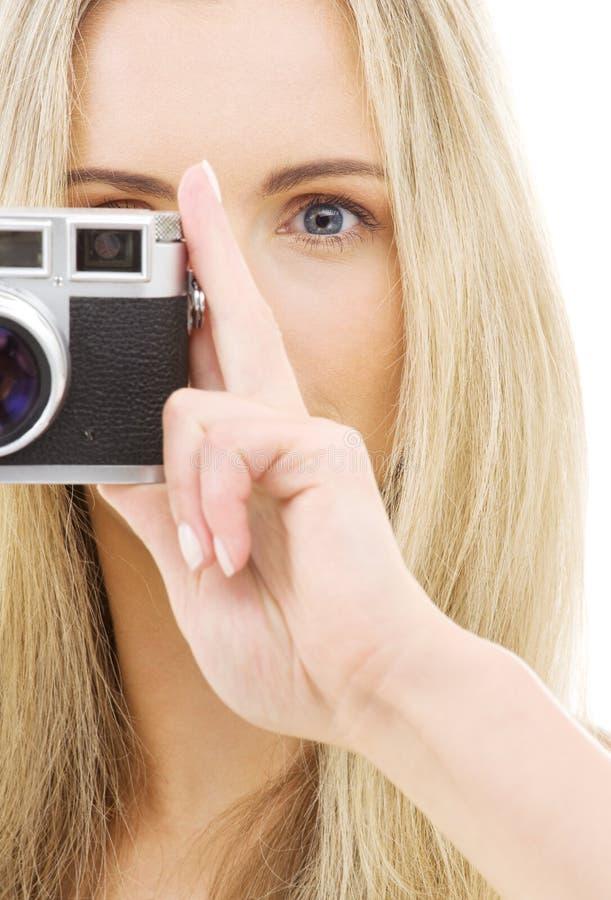 dziewczyna kamery zdjęcie royalty free