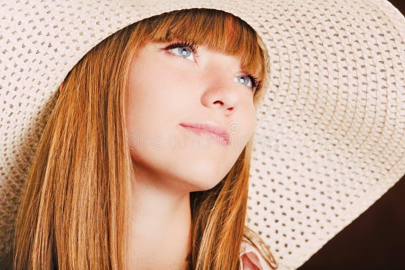 dziewczyna kapelusz zdjęcie stock