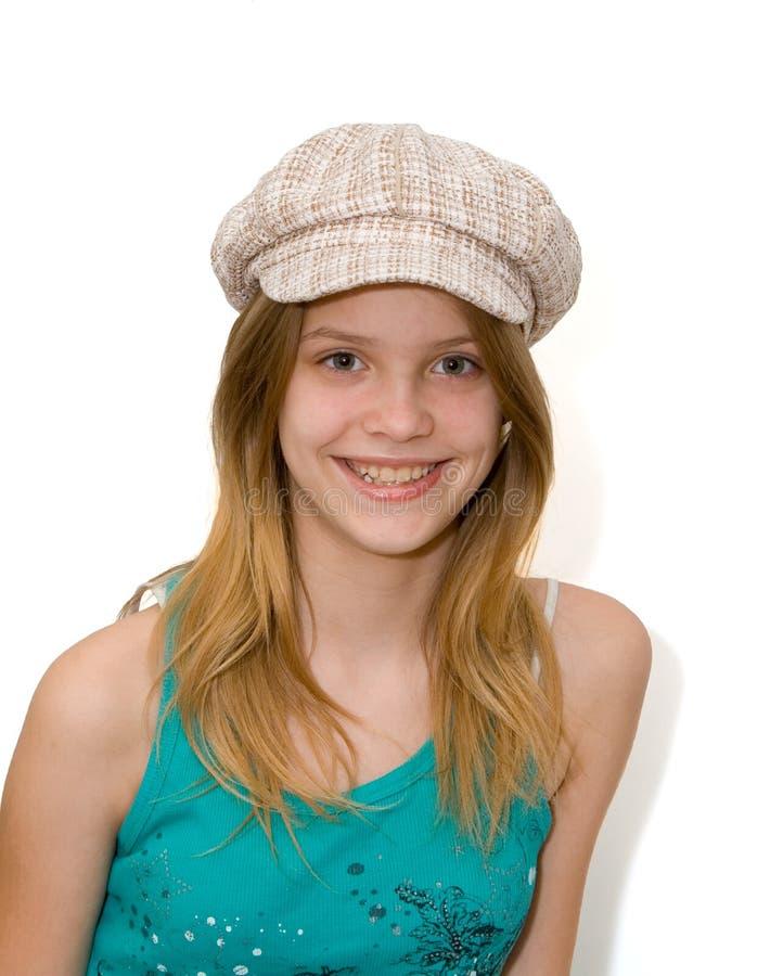 dziewczyna kapeluszu potomstwa zdjęcia stock