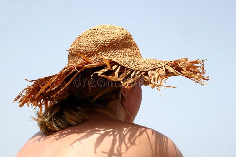 dziewczyna kapeluszu słońce obraz royalty free