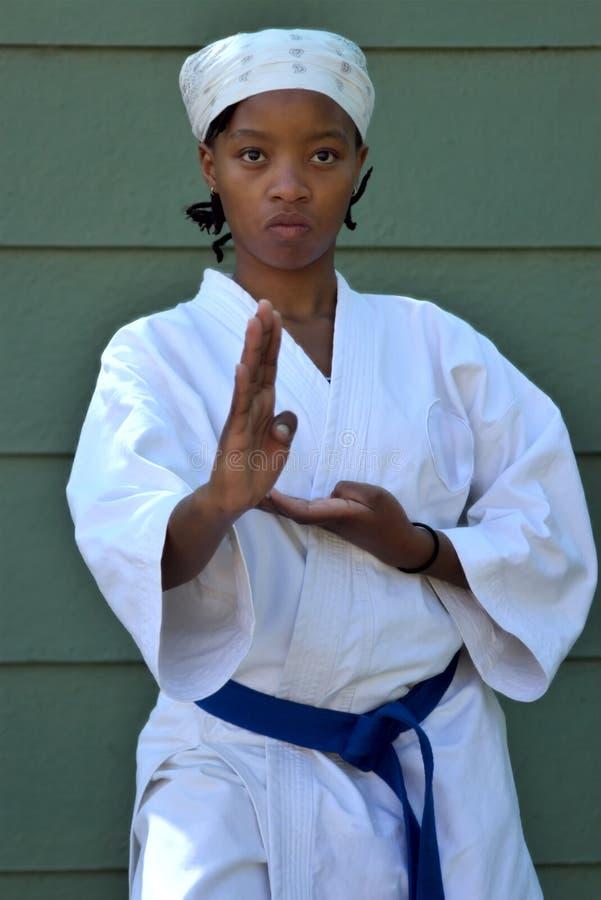 dziewczyna karate. obrazy stock