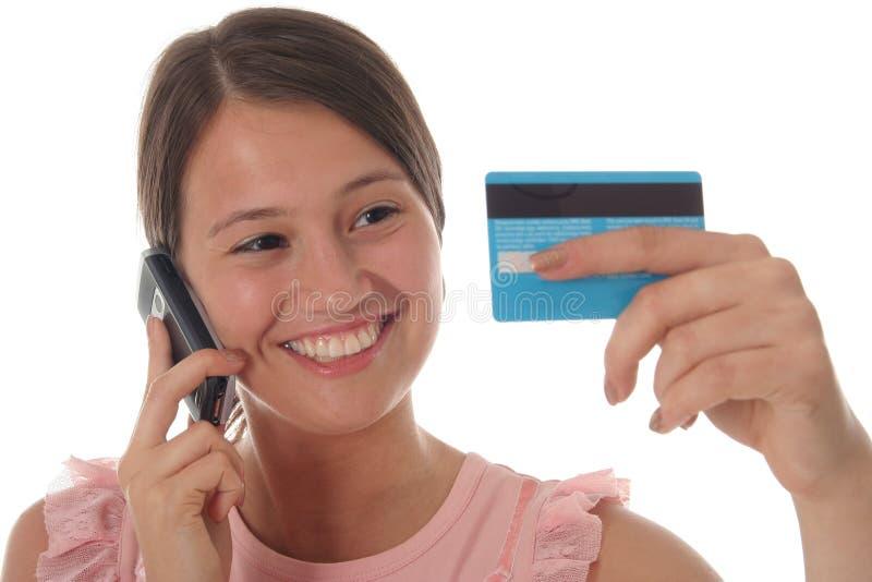 dziewczyna karty kredytowej obrazy royalty free