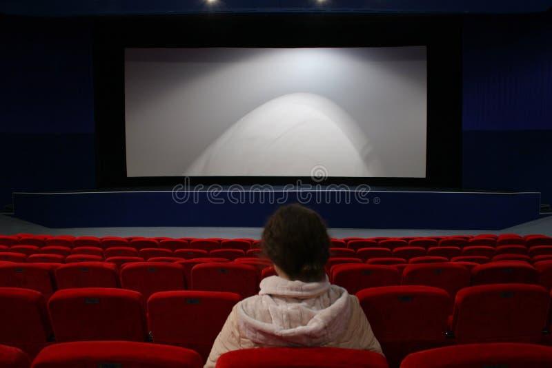 dziewczyna kinowa fotografia stock