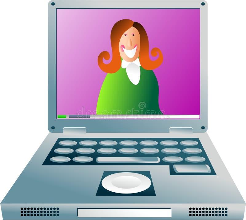 dziewczyna komputerowa royalty ilustracja