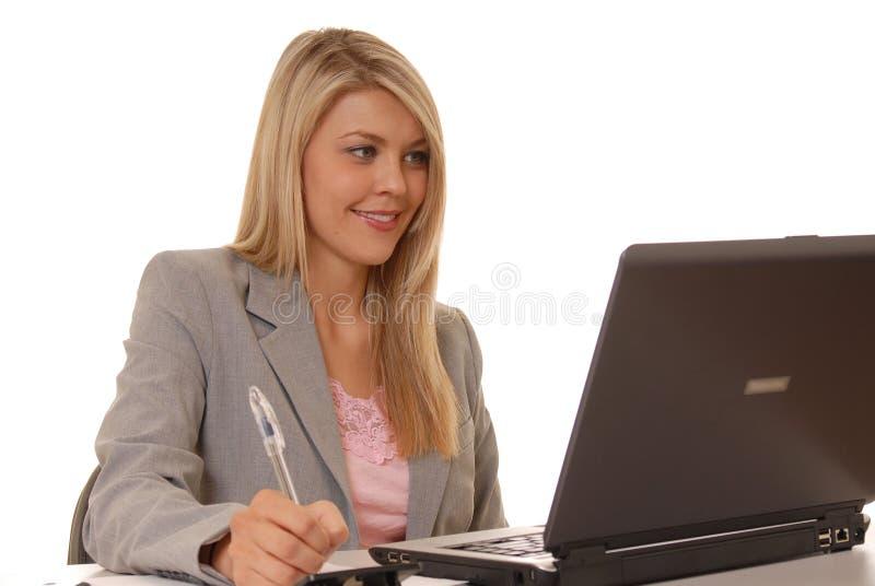 dziewczyna komputerowa 3 zdjęcie royalty free