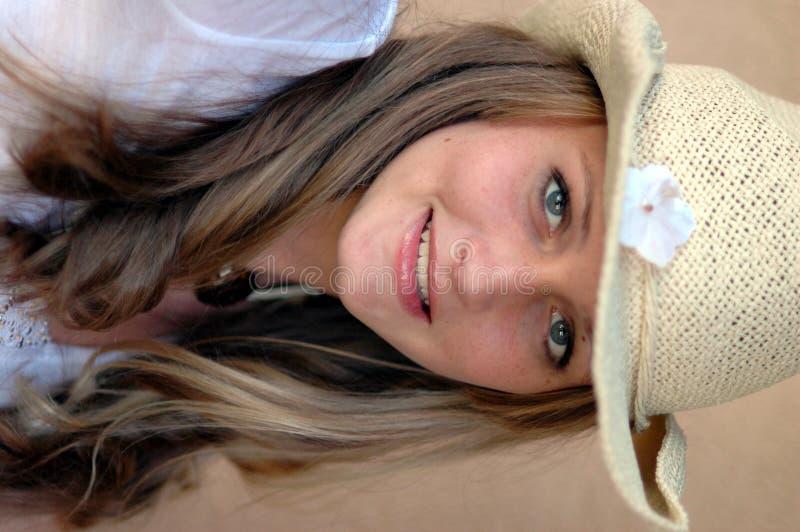 dziewczyna kowbojski kapelusz, zdjęcia stock