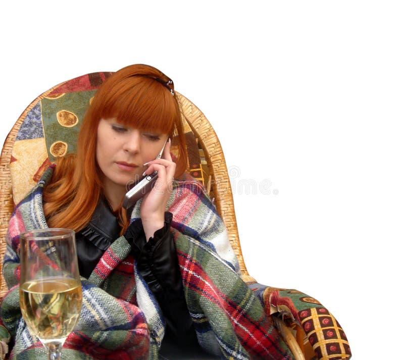 dziewczyna krzesło zdjęcie royalty free