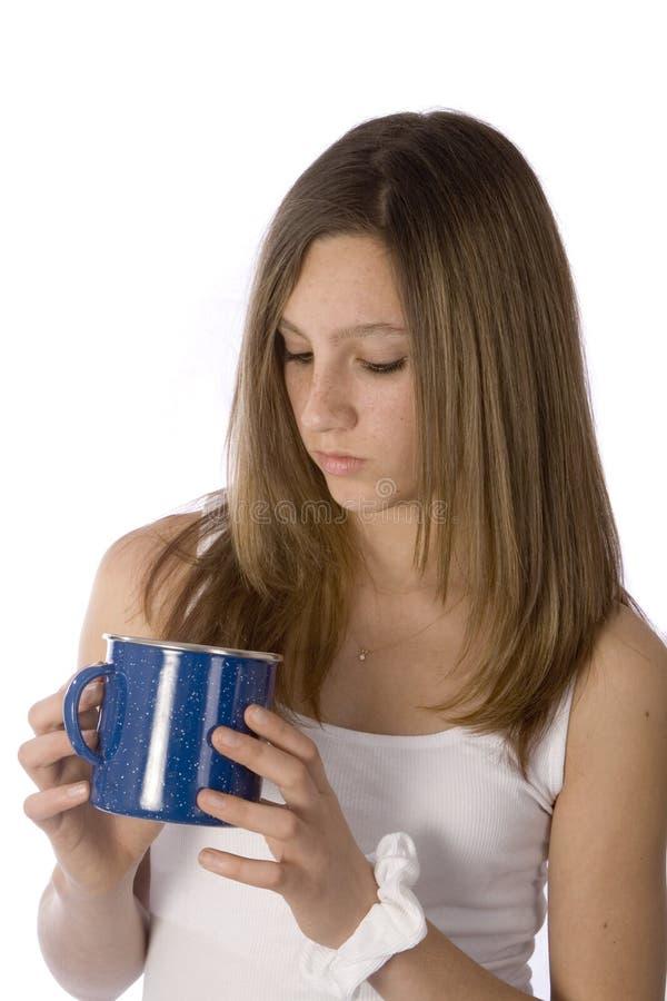 dziewczyna kubek kawy zdjęcia stock