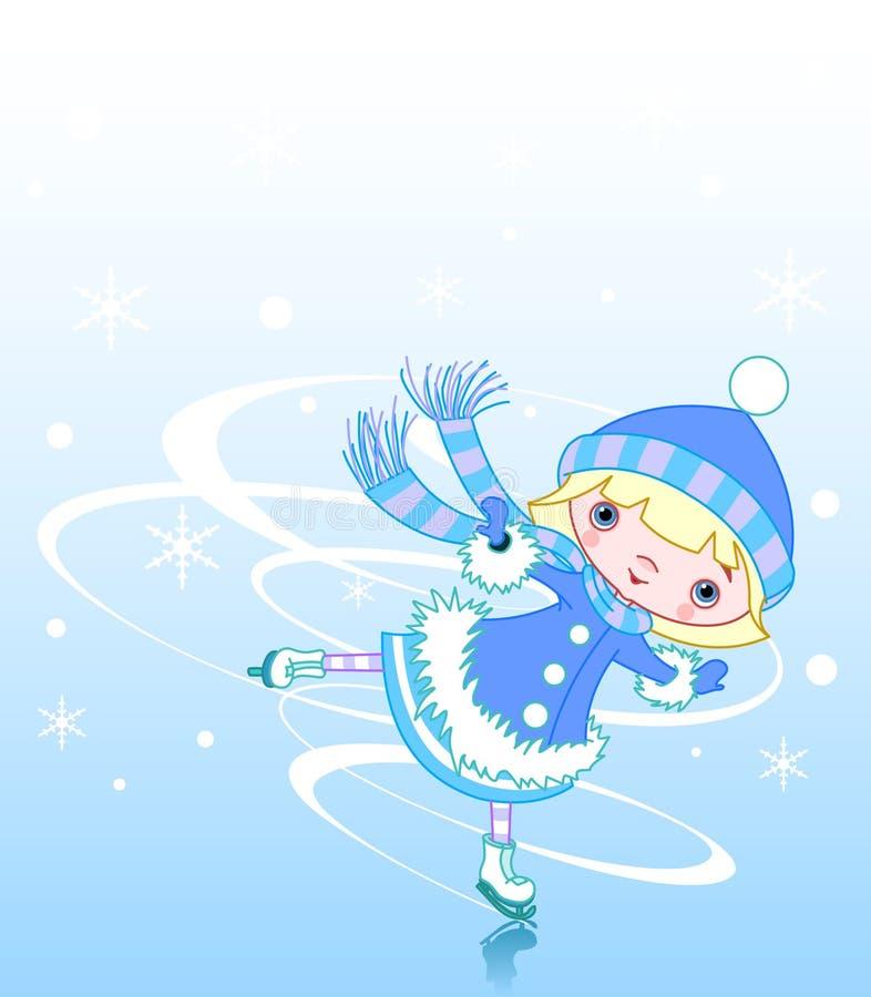 dziewczyna lód ilustracji