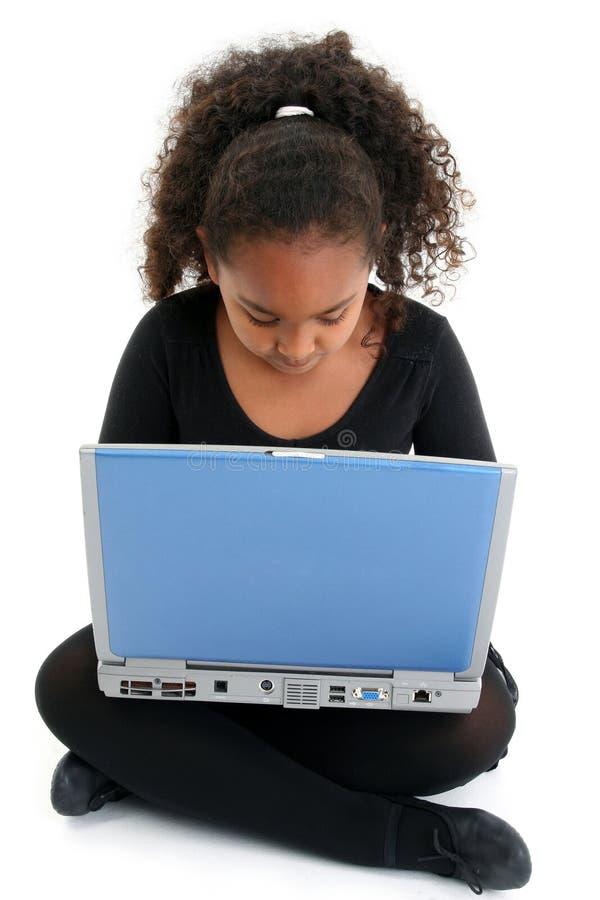 dziewczyna laptop fotografia royalty free