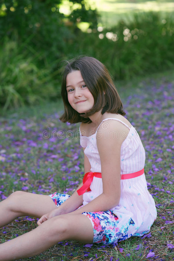 dziewczyna marzycielska fotografia royalty free