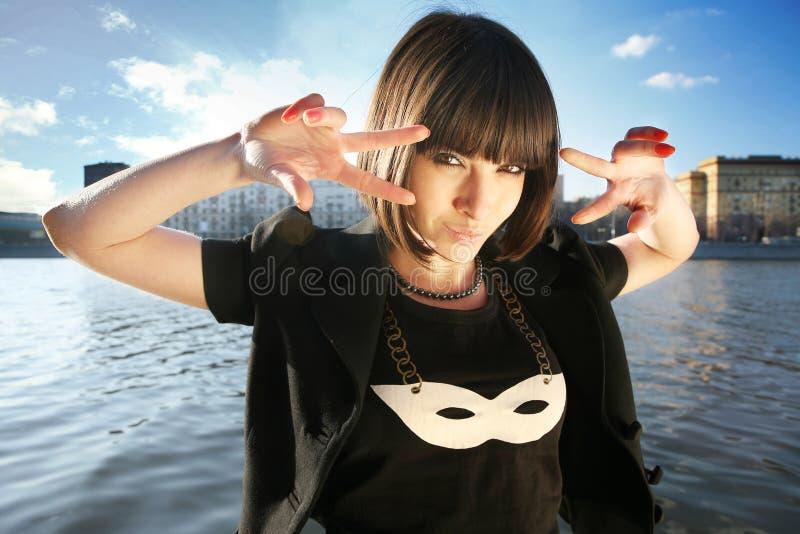 dziewczyna maskująca obrazy royalty free