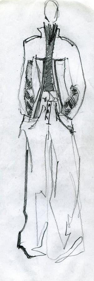 Dziewczyna model, demonstruje płótno ilustracja wektor