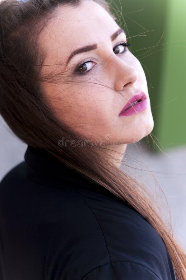 dziewczyna modny portret zdjęcia royalty free